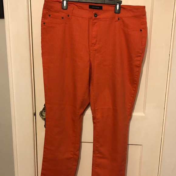 e494d545a95 Ashley Stewart Denim - Ashley Stewart orange denim straight leg jeans 18